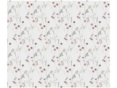 Adesivo Decorativo para Parede Infantil Cinza - Flores PVC Bobinex Uau! 45cmx200xm