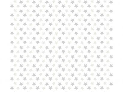 Adesivo Decorativo para Quarto Infantil - Cinza Estrela Bobinex Uau! 45cmx200cm