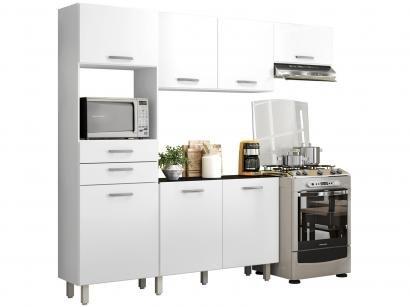Kit Cozinha Poliman Móveis Lia D15200 com Balcão - Nicho para Micro-ondas com...