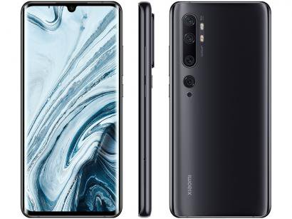 "Smartphone Xiaomi Mi Note 10 128GB Preto - Midnight Black 4G+ 6GB RAM 6,47""..."