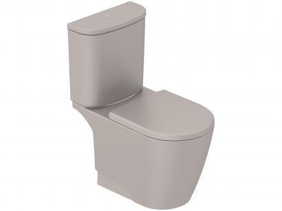 Vaso Sanitário com Caixa Acoplada Oval Gris - Incepa Neo