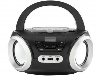 Rádio Portátil Lenoxx FM CD Player MP3 - Display Digital Bluetooth BD 1370 Boombox