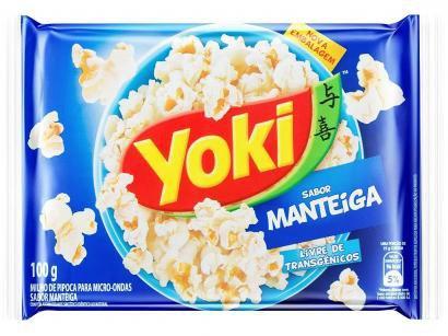 Pipoca de Micro-ondas Yoki Manteiga - 100g