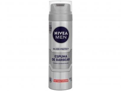 Espuma de Barbear Nivea Men Silver Protect - 200ml