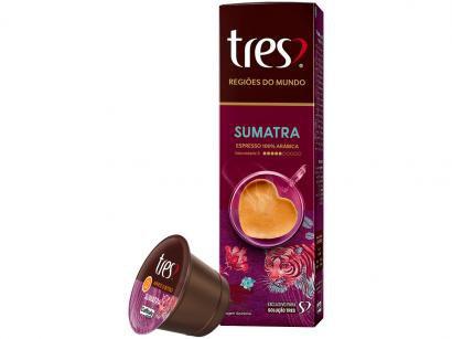 Cápsula de Café Espresso Sumatra Regiões do Mundo - TRES 3 Corações 10 Cápsulas