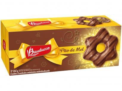 Pão de Mel Bauducco com Cobertura de Chocolate - ao Leite 240g 8 Unidades