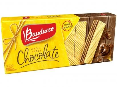 Biscoito Recheado Chocolate Wafer Bauducco 140g