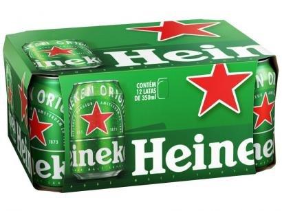 Cerveja Heineken Premium Puro Malte Lager - 12 Unidades 350ml