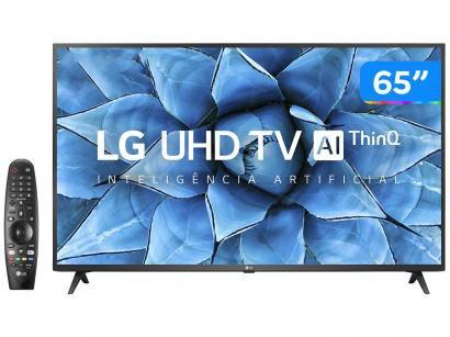 "Smart TV UHD 4K LED IPS 65"" LG 65UN7310PSC Wi-Fi - Bluetooth HDR Inteligência Artificial 3 HDMI 2 USB"