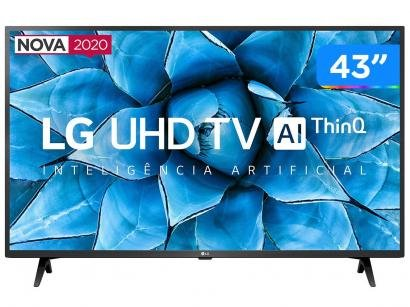 "Smart TV UHD 4K LED IPS 43"" LG 43UN7300PSC Wi-Fi - Bluetooth Inteligência Artificial 3 HDMI 2 USB"
