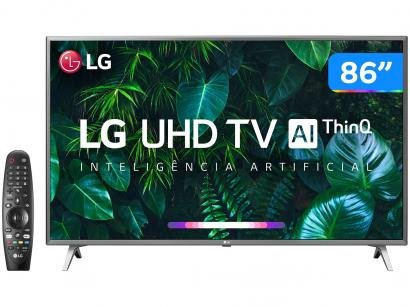 "Smart TV LG 4K LED IPS 86"" LG 86UN8000PSB Wi-Fi - Bluetooth HDR Inteligência Artificial 4 HDMI 3 USB"