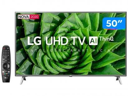 "Smart TV UHD 4K LED 50"" LG 50UN8000PSD Wi-Fi - Bluetooth HDR Inteligência Artificial 4 HDMI 2 USB"