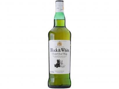 Whisky Black & White Blended Escocês 1L