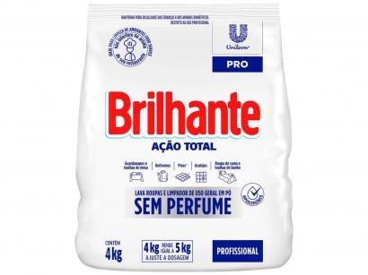 Detergente em Pó Brilhante Limpeza Total - Tamanho Família 4kg