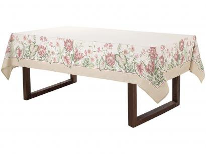 Toalha de Mesa Retangular Karsten Branco 160x270cm - Sempre Limpa Protea