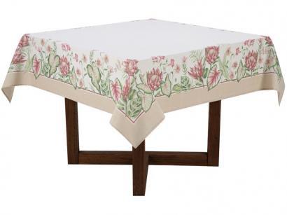 Toalha de Mesa Quadrada Karsten Branca 160x160cm - Sempre Limpa Protea