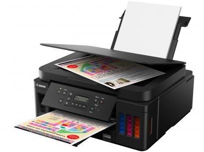 Impressora Multifuncional Canon Mega Tank G6010 - Tanque de Tinta Colorida Wi-Fi USB Placa de Rede