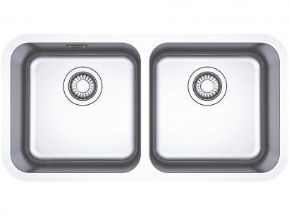 Cuba para Cozinha Franke Dupla Inox de Embutir - Retangular 77,5x40cm Prática Bell BCX 120-35
