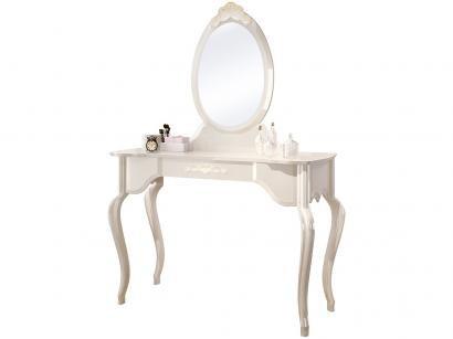 Penteadeira com Espelho 1 Gaveta EDN Móveis - Luis XV