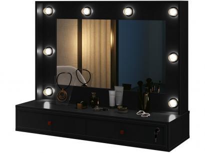Penteadeira Camarim com Espelho 2 Gavetas - EDN Móveis Tradicional Amélie