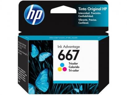 Cartucho de Tinta HP Ink Advantage 667 - Colorido