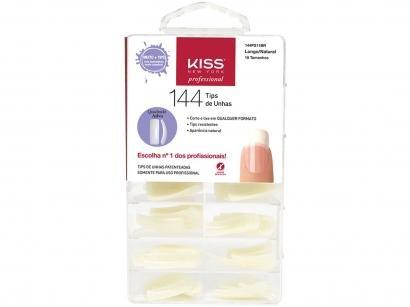 Tips de Unha Quadrado Kiss New York Natural - 144 Unidades