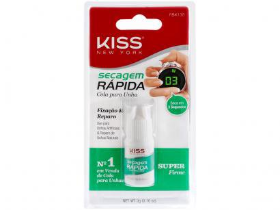 Cola para Unha Postiça Kiss New York - Secagem Rápida Tubo 3g