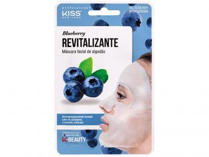 Máscara Facial Kiss New York Professional - Revitalizante Blueberry 20ml
