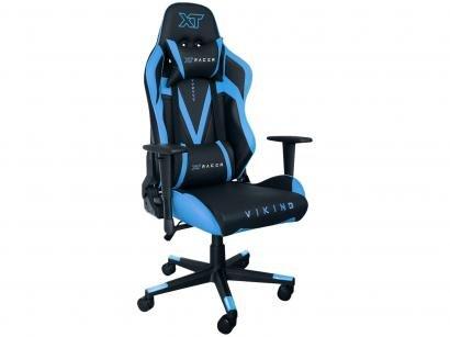 Cadeira Gamer XT Racer Reclinável Preto e Azul - Viking Series XTR-012