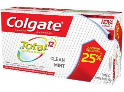 Creme Dental Colgate Total 12 - 90g 2 Unidades
