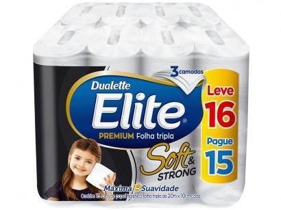 Papel Higiênico Folha Tripla Elite Soft & Strong - 16 Rolos 20m