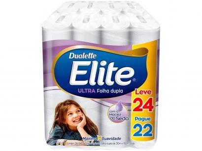 Papel Higiênico Folha Dupla Elite Ultra 24 Rolos - 30m