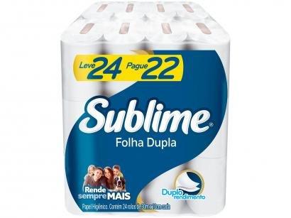 Papel Higiênico Folha Dupla Sublime Softy?s - 24 Rolos 30m