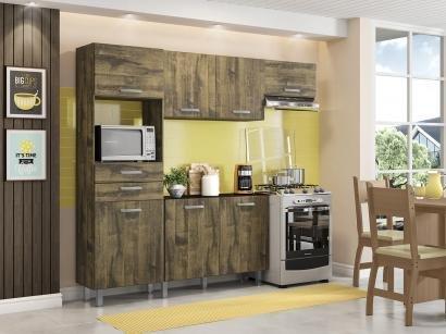 Cozinha Compacta Poliman Móveis Lia com Balcão - Nicho para Micro-ondas 7...