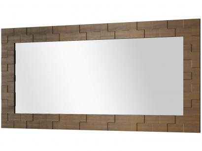 Espelho Decorativo Retangular com Moldura - de Parede 76,5x136cm EDN Móveis Class Malbec