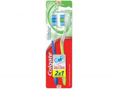 Escova de Dente Colgate Twister - 2 Unidades