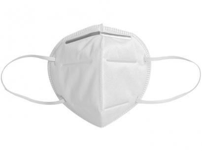 Máscara de Proteção Respiratória Reutilizável - 5 Camadas com Elástico Multilaser KN95-PFF2 Branca