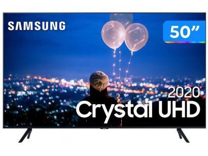 "Smart TV Crystal UHD 4K LED 50"" Samsung - UN50TU8000GXZD Wi-Fi Bluetooth HDR 3..."
