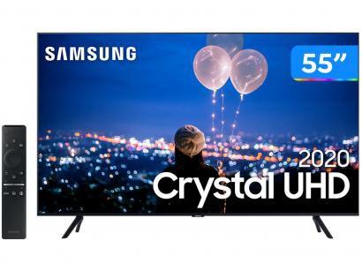 "Smart TV Crystal UHD 4K LED 55"" Samsung - UN55TU8000GXZD Wi-Fi Bluetooth HDR 3..."