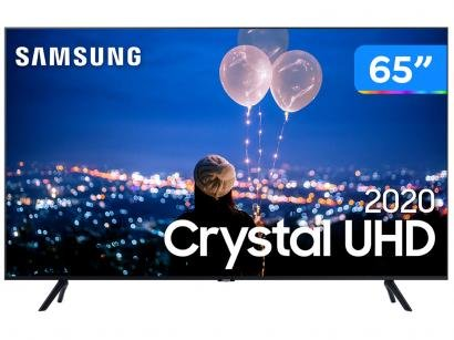 "Smart TV Crystal UHD 4K LED 65"" Samsung - 65TU8000 Wi-Fi Bluetooth HDR 3 HDMI 2 USB"