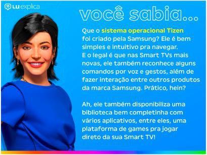 "Smart TV Crystal UHD 4K LED 50"" Samsung - 50TU7000 Wi-Fi Bluetooth HDR 2 HDMI 1 USB"