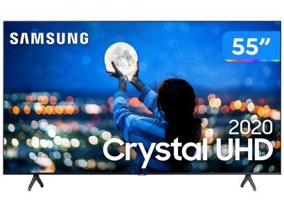 "Smart TV Crystal UHD 4K LED 55"" Samsung - UN55TU7000GXZD Wi-Fi Bluetooth 2 HDMI..."