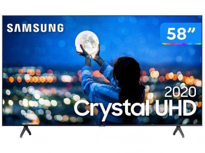 """Smart TV Crystal UDH 4K LED 58"""" Samsung - UN58TU7000GXZD Wi-Fi Bluetooth 2 HDMI..."""