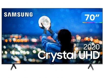 "Smart TV Crystal UHD 4K LED 70"" Samsung - UN70TU7000GXZD Wi-Fi Bluetooth 2 HDMI..."