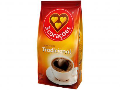 Café Torrado e Moído 3 Corações Tradicional Pacote - 500g