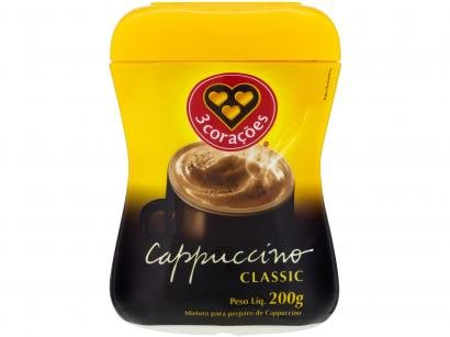 Cappuccino Classic 3 Corações Pote 200g