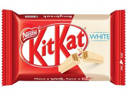Barra de Chocolate Kit Kat Branco 41,5g - 24 Unidades Nestlé