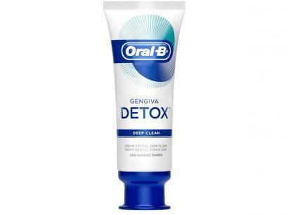 Creme Dental com Flúor Oral-B Detox Deep Clean - 102g