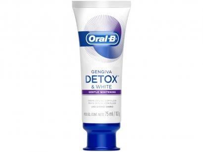 Creme Dental com Flúor Oral-B Detox - Gentle Whitening 102g