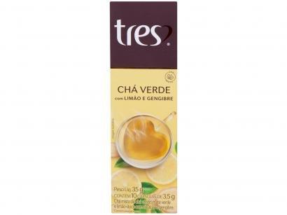 Cápsula Chá Verde com Limão e Gengibre TRES - 3 Corações 10 Cápsulas